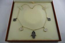 "Scottish Ola Gorie Classic Khamsa Sterling Silver Pendant 16"" Chain"