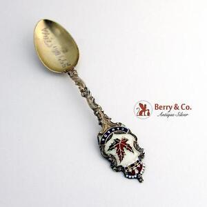 Canadian Souvenir Spoon Sterling Silver Enamel 1902