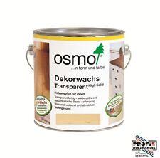 (27,18�'�/L) Osmo Dekorwachs transparent 3101 Farblos 2,5 L + Rührholz