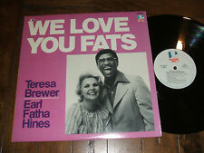 Teresa Brewer / Earl Fatha Hines - We Love You Fats 1983 LP Doctor Jazz Records