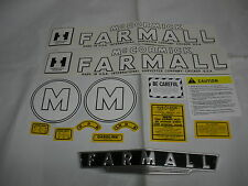 IHC International Farmall Model M Tractor Decal Set & Front Emblem  FREE SHIP
