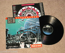 ROCK REO SPEEDWAGON WHEELS ARE TURNIN' LP RECORD EXCELLENT **