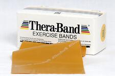 Original Thera-Band Übungsband | 2,5 m gold max. stark | Widerstandsband Fitness
