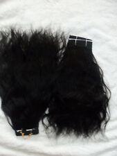 """BRAZILIAN REMY HAIR 14""""  1B-BLACK, 2PCS NATURAL WAVY"""
