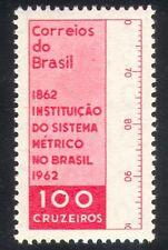 Brésil 1962 système métrique/Mètre/Règle/conversion au système métrique/MESURE 1 V (n38931)