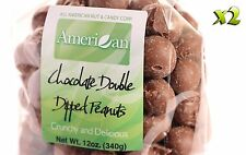 24oz Gourmet Style Bags of Deep Double Dipped Milk Chocolate Peanuts [1 1/2 lb.]