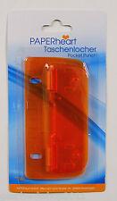 Locher Taschenlocher Reiselocher Lineal mini  flach abheftbar pocket perforator