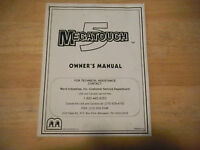 MEGATOUCH 5  MERIT    original video game machine  manual