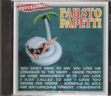 "FAUSTO PAPETTI - RARO CD FUORI CATALOGO "" PROTAGONISTI """