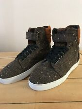 Android Homme Mens Brown Tweed High Top Sneaker Size 8