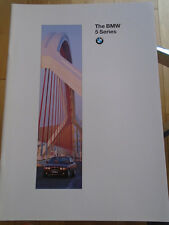 BMW 5 Series range brochure 1995 Ed 2