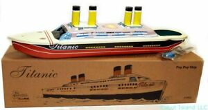 TITANIC TIN TOY STEAM POP-POP BOAT CLASSIC TOY REPLICA NEW - SUMMER SALE!