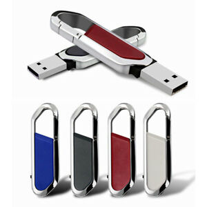 2TB 128GB USB 2.0 Flash Drive Memory Stick Pen U Disk Thumb PC  Metal Key Chain