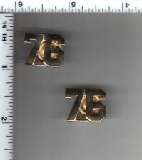 76th Precinct Police Collar Brass Set - from the New York City/New Jersey Area