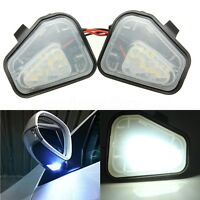 2x LED Side Mirror Puddle Lights For VW Golf MK5 Passat EOS CC Scirocco E-marked