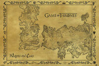 GAME OF THRONES MAP WESTEROS AND ESSOS POSTER (61x91cm)  PICTURE PRINT NEW ART
