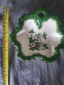 Vintage Christmas Small Glass Plate