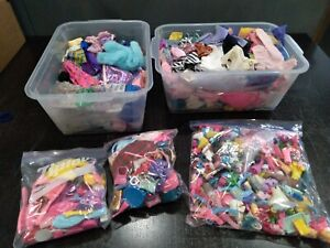 lot of barbie doll clothes shoes purses hats over 4lbs vintage/newer