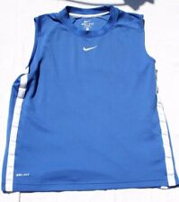 Men's Nike Dri-Fit Muscle Athletic Shirt Blue w/ White Accents Size Large