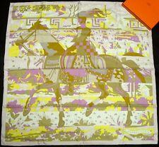 "NEW Authentic Hermes silk scarf ""Les Dix Cavaliers"""