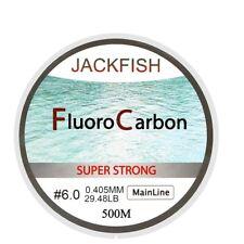 Jackfish 500M FluoroCarbon FishingLine 5-32LB Test Super Strong Fiber Main Line