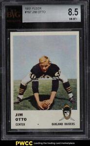 1961 Fleer Football Jim Otto ROOKIE RC #197 BVG 8.5 NM-MT+