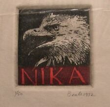 Nika Eagle Etching, Jack Beale Listed American Artist