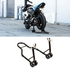 Rear Black Motorcycle Stand Sports Bike Swingarm Wheel Spool Lift Auto Bike Shop