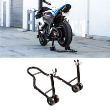 Rear Black Motorcycle Stand Sports Bike Swingarm Wheel Spool Lift Auto Bike Shop