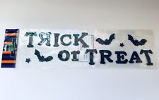 """""""TRICK OR TREAT"""" HALLOWEEN REUSABLE WINDOW GEL STICKERS PARTY, HOME DECORATIONS."""