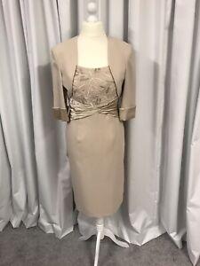 Ispirato, Dress & Jacket, Mother Of The Bride/Groom, Nude UK14