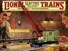Print póster Advert Toy Train Collector Rail Locomotive electric model nofl 0811