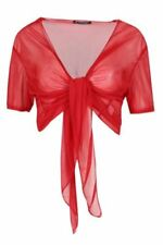 Camisas y tops de mujer de color principal rojo de poliéster talla M