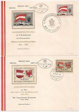 2 COVERS AUSTRIA AUTRICHE WIEN INSBRUCK SONDERPOSTMARKE. 1963. L1004