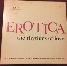 EROTICA The Rhythms Of Love LP FAX sex sounds jungle exotica bongos