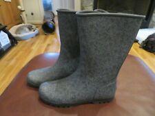 Nice Womens Black & Gray Sperry Rain Boots, Size 8