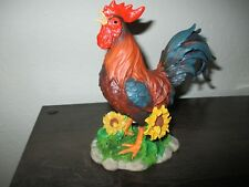 Lenox Sunflower Sunrise Rooster Colorful Flowers Fence