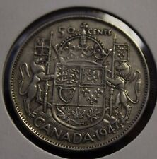 1947 50 cents Canada curved  7 over 7 a nice coin