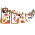 1st Birthday Girl Decorations 1-12 Month Photo Banner Monthly Photo Banner C