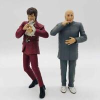 """Vintage 1999 McFarlane Austin Powers & Dr. Evil 6"""" Poseable Action Figures Set"""