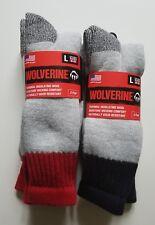 Wolverine 4 pairs Thermal Socks Mens Merino Wool Boot  Sock Insulating Large NEW