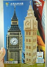 WoodCraft Construction Kit 3D Wooden Puzzle Big Ben Model Jigsaw Toy Gift