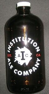 32oz INSTITUTION ALE COMPANY Glass Beer Growler