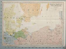 Mappa / Battle Plan North Germania e Danimarca Mecklenburg Schwerin Hanover
