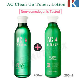 ETUDE HOUSE AC Clean Up Basic Set 200ml Toner + 200ml Gel Lotion Korean Cosmetic