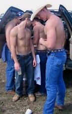 Shirtless Male Muscular Country Cowboys In Jeans Hot Guys PHOTO 4X6 F334