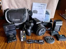 LUMIX DMC-FZ300 5.0MP Digital Camera 4K MOVIE, w/CASE, 3 BATTERIES