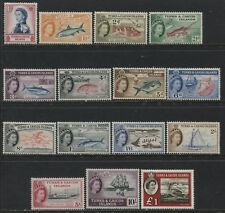 Turks and Caicos QEII 1957 complete definitive set mint o.g. hinged