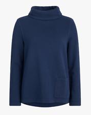 Ex Seasalt Navy Blue Walled Garden Roll Neck Sweatshirt Jumper Size 8 - 24