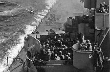 """Poster Print: 24"""" x 36"""": Kamikaze Zero About To Hit USS Missouri, Okinawa, 1945"""